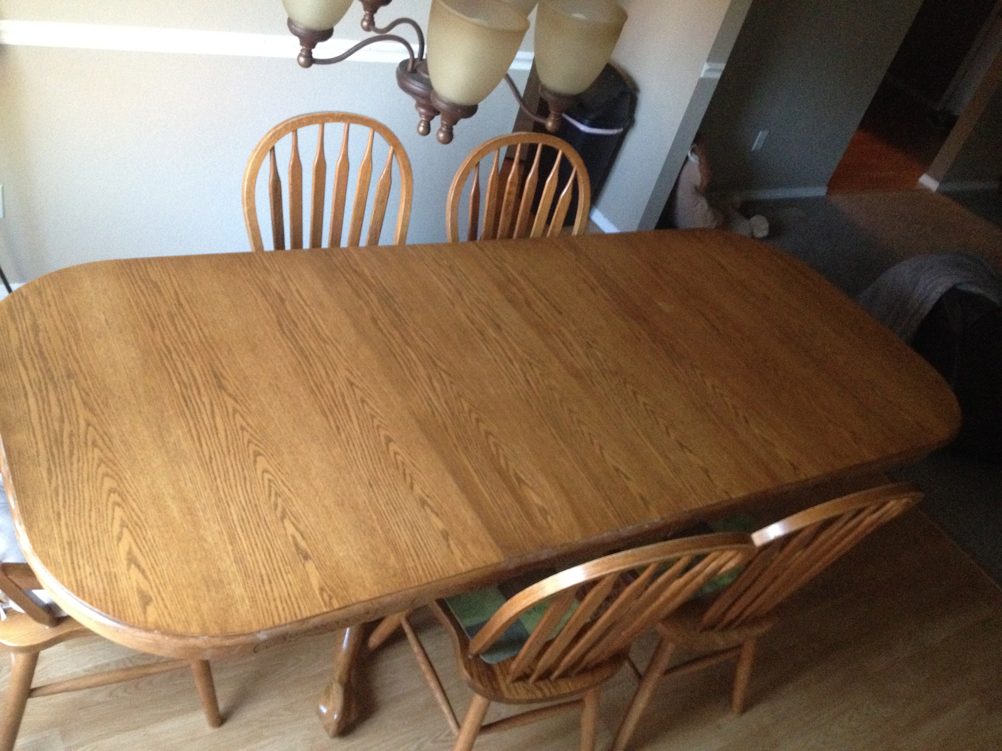 Refinish dining room table top | Love Laugh Be Healthy
